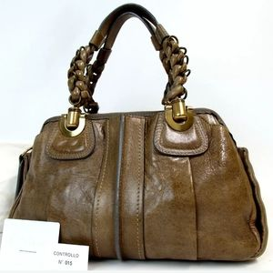 AUTHENTIC CHLOE 7AS82-50 ELOISE HANDBAG LEATHER